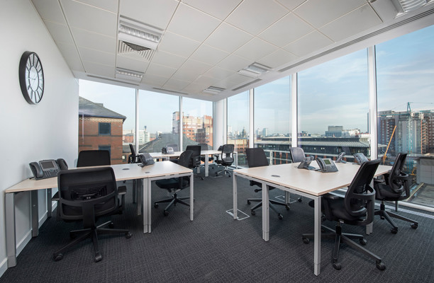 Wellington Place office space – Private Office (different sizes available).