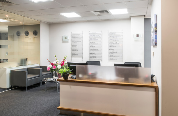 Quayside NE1 office space – Reception