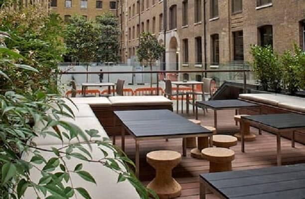 Devonshire Square EC2 office space – Outdoor Area