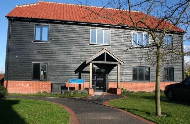 Lodge Lane CO1, CO7 office space – Building External