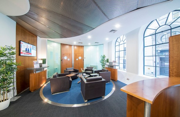 Austin Friars EC2 office space – Reception