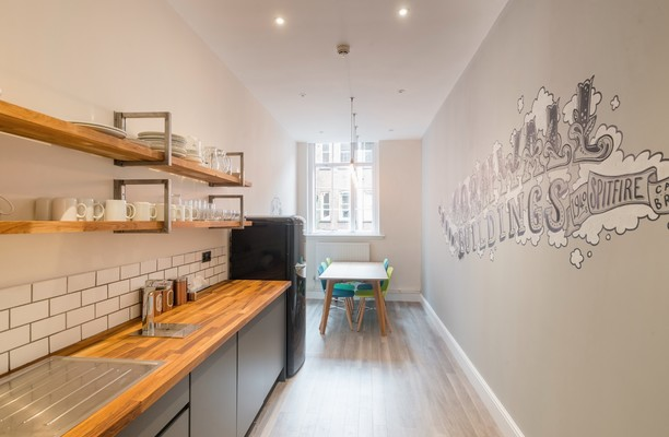 Newhall Street B4 office space – Kitchen