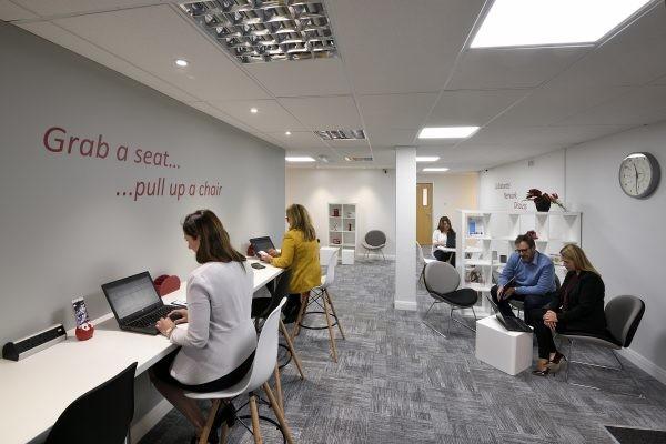 Dallam Lane WA1 office space – Break Out Area