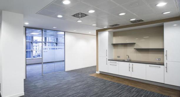 Broadgate EC2 office space – Kitchen