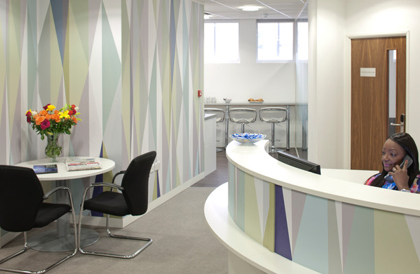 Waterloo Road SE1 office space – Reception
