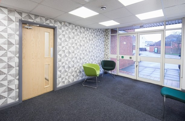 Thornes Mill office space – Foyer