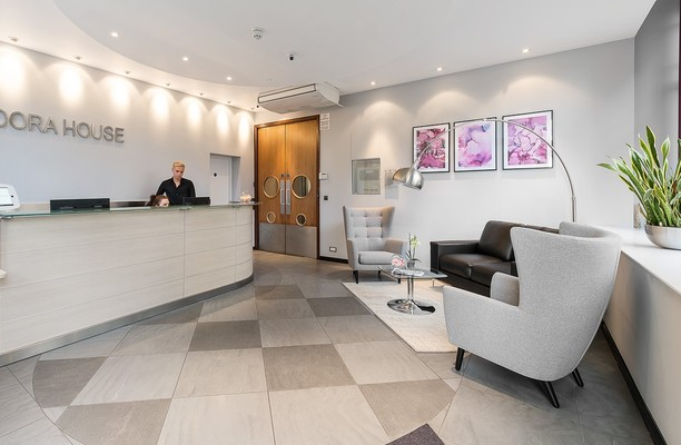 Mortimer Street W1 office space – Reception