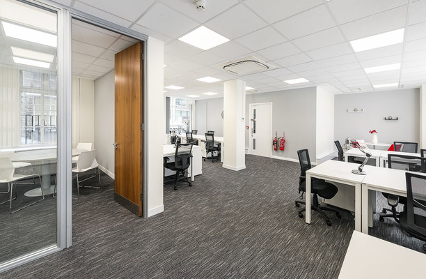 Mortimer Street W1 office space – Private Office (different sizes available).