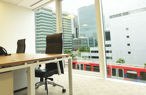 Harbour Exchange Square E14 office space – Private Office (different sizes available).