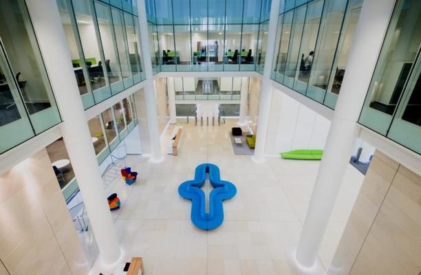 Snow Hill B1 office space – Atrium