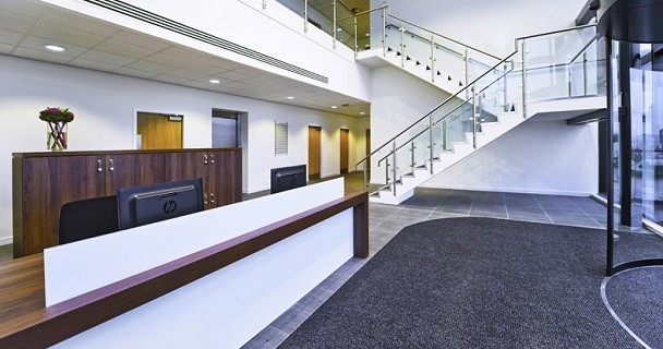 International Avenue AB10 office space – Reception