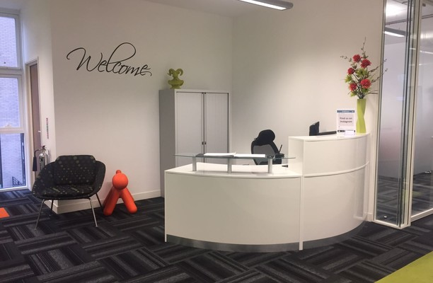 Lever Street M2 office space – Reception