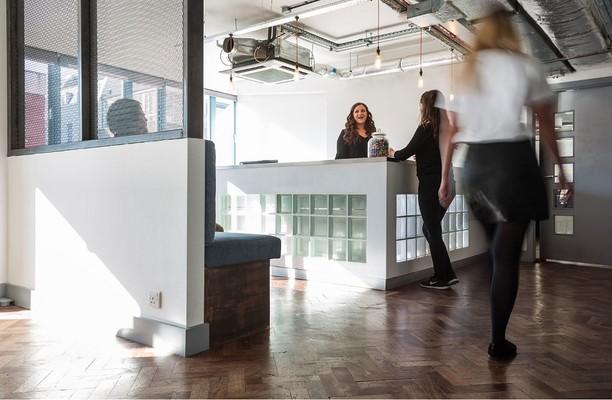 Old Street EC1 office space – Reception