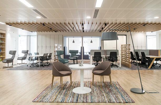 St Marys Axe EC2 office space – Break Out Area