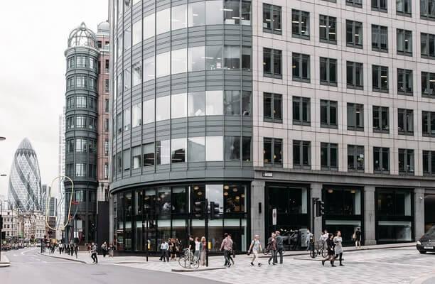 Primrose Street EC2 office space – Building External