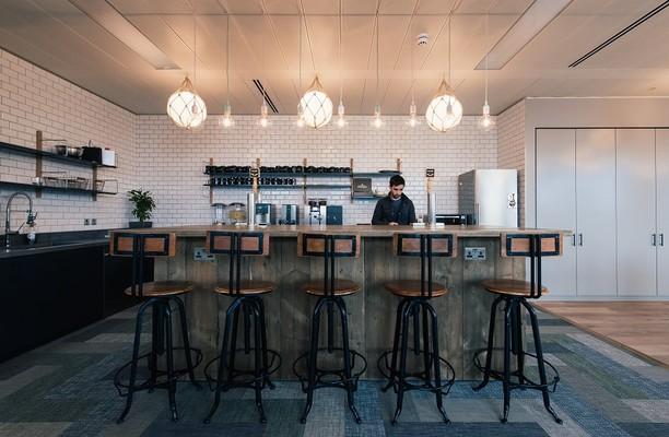 Upper Ground SE1 office space – Kitchen