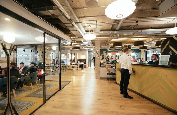 Devonshire Square EC2 office space – Reception