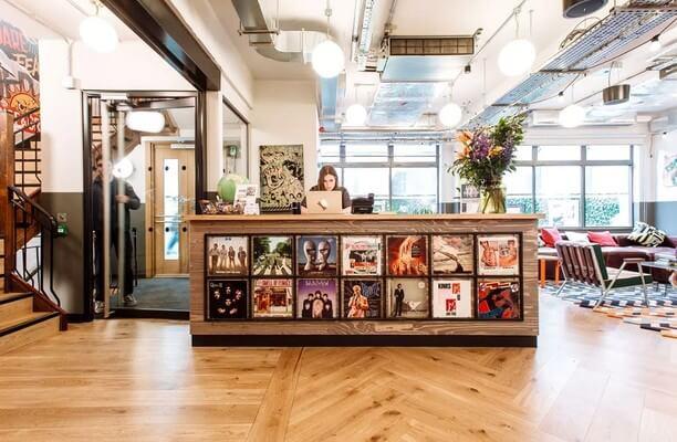 Great Chapel Street W1 office space – Reception