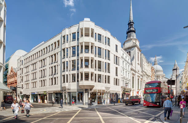 Old Bailey EC1 office space – Building External