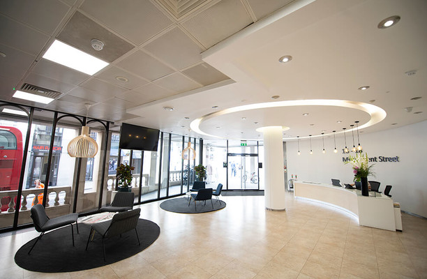 Monument Street EC4 office space – Reception