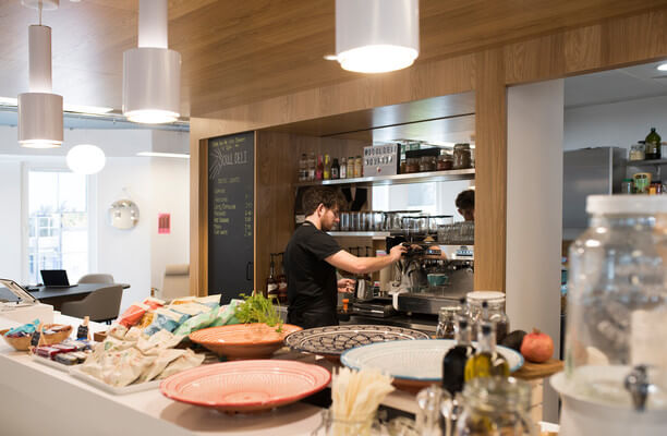 Trafalgar Place office space – Kitchen