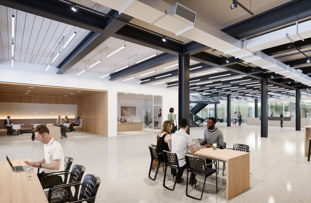 White City Place W12 office space – Reception