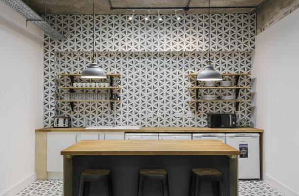 Luke Street EC1, EC2 office space – Kitchen