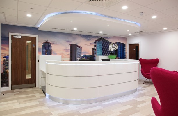 Clippers Quay M2 office space – Reception