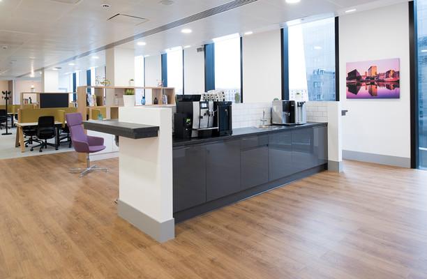Mann Island office space – Kitchen