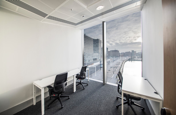 Mann Island L2 office space – Private Office (different sizes available).