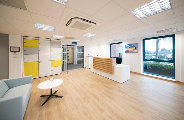 Bristol Road South B1 office space – Reception