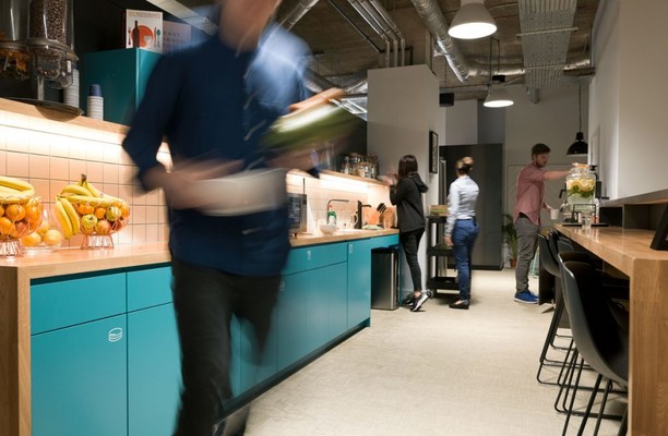 Central Street EC1 office space – Kitchen