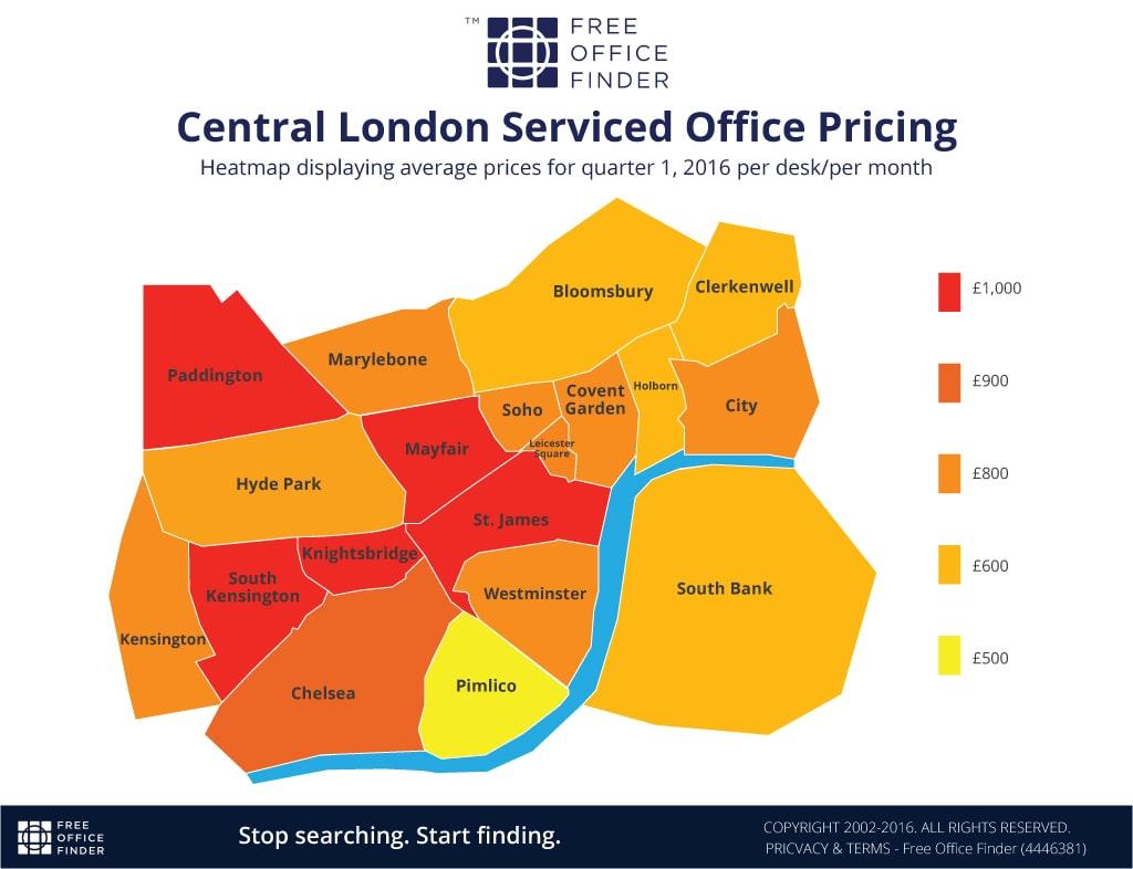 Office Rental Heatmap
